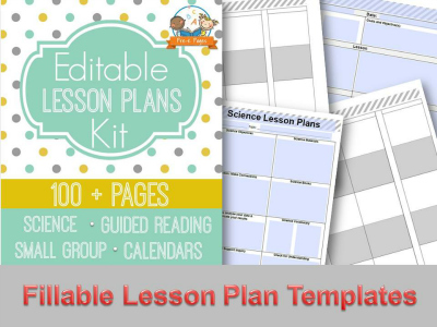 Printable Lesson Plans for Preschool, Pre-K, and Kindergarten - preschool lesson plan template