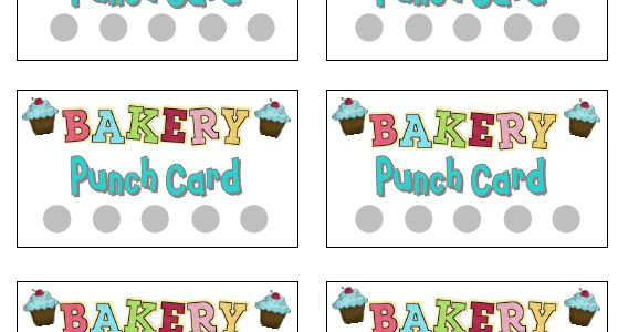 Printable Punch Cards for Dramatic Play - punch cards