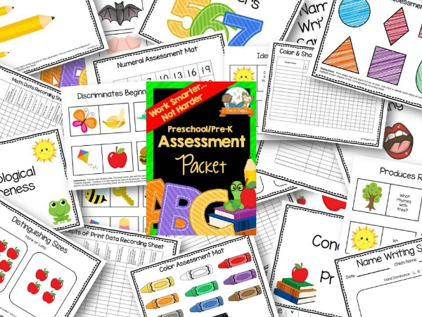 Preschool Assessment Forms Report Card Progress Report - free assessment forms