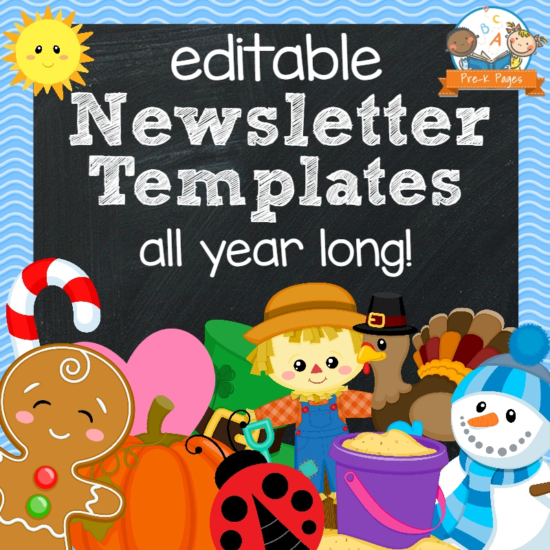 Classroom Newsletters - Pre-K Pages - weekly newsletter template
