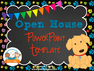 Dog Open House PowerPoint - Pre-K Pages - open house powerpoint template