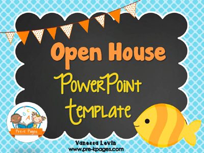 Fish Open House PowerPoint - Pre-K Pages - open house powerpoint template