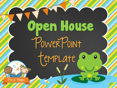 Frog Open House PowerPoint - Pre-K Pages - open house powerpoint template