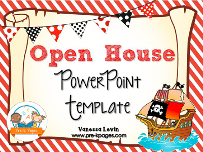 Pirate Open House PowerPoint - Pre-K Pages - open house powerpoint template