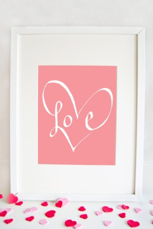 Love Valentines Print