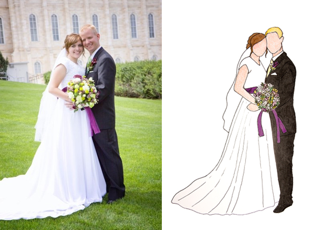wedding illustration preview