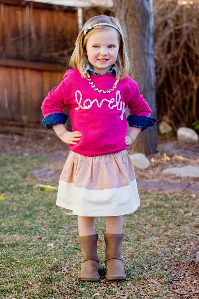 DIY Girl's Graphic Sweater