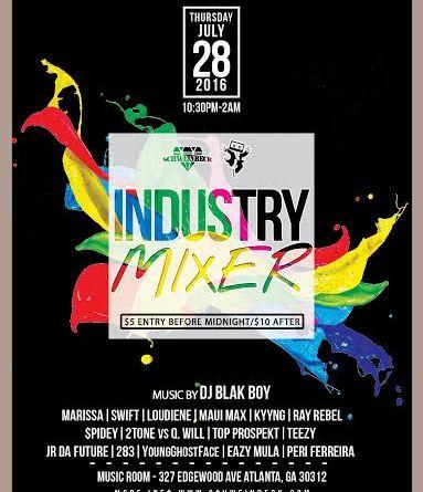Schweinbeck Industry Mixer 7/28 The Music Room – ATL, GA