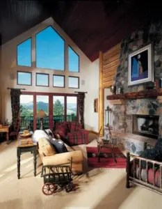 Window tinting a cabin in the beautiful Rocky Mountains outside of Denver Colorado.