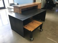 Custom Steel and Wood Office Desk