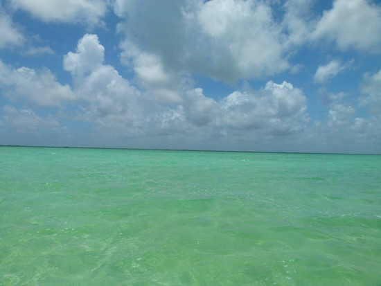 Parece que o Caribe, mas é uma lagoa