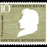 Poštanska marka koju je izdala pošta Nemačke 1956. godine povodom stogodišnjice od smrti Hajnea