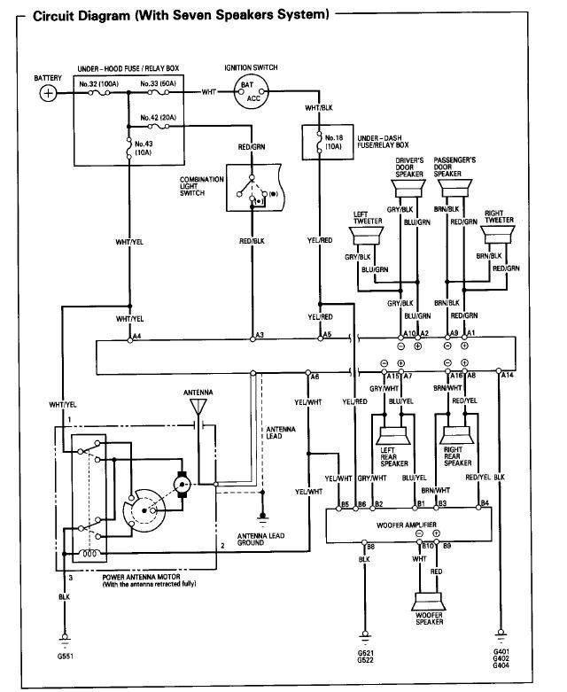 1994 Honda Prelude Radio Wiring Diagram Schematic Online Wiring