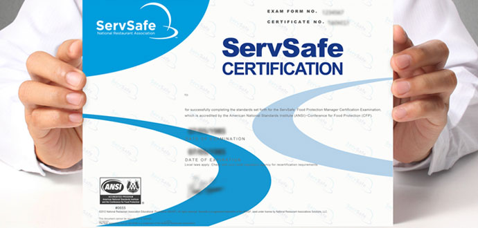 Maryland Food Manager Certification ServSafe Exam  Class - food handlers test answers
