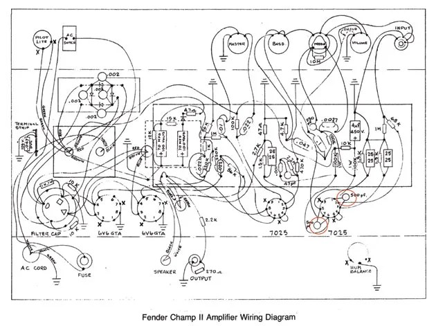 Fender Champ Wiring Diagram Wiring Diagram