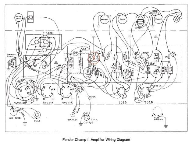 Fender Champ Amp Wire Diagram Wiring Diagram