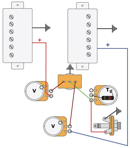 Les Paul Wiring Diagram For A Guitar Wiring Schematic Diagram