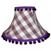 Aubergine Gingham Empire Lampshade
