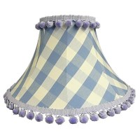 Cornflower Gingham Empire Lampshade