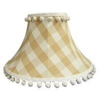 Natural Gingham Check Empire Lampshade