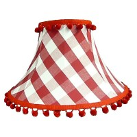 Rouge Gingham Empire Lampshade