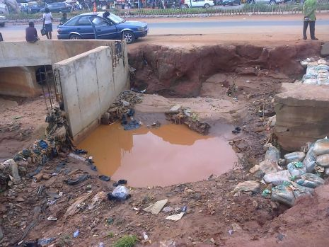 Abandoned drainage at UNIZIK Junction, Awka, Anambra State