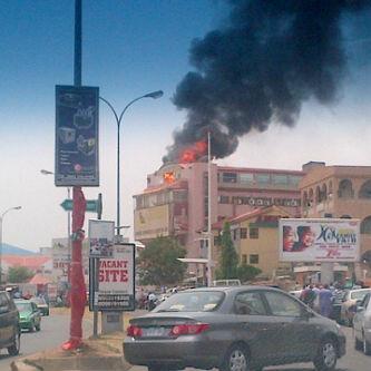 BREAKING NEWS: Abuja's most popular furniture house, Alibert, on fire