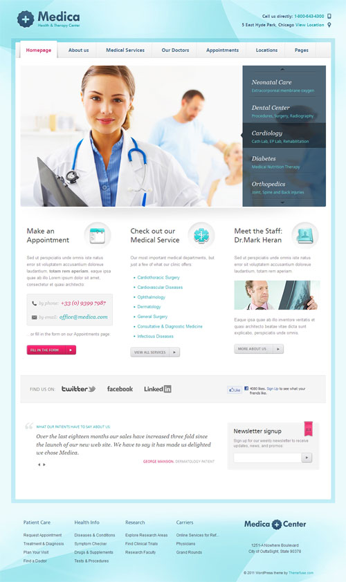 15+ Professional Health and Medical WordPress Themes
