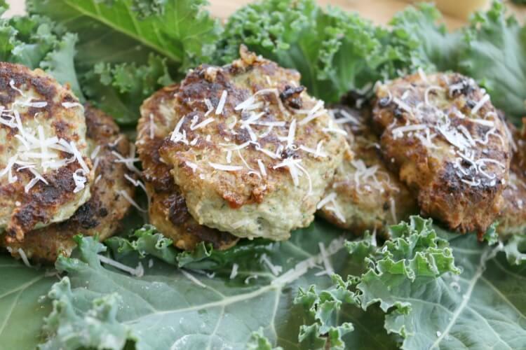Parmesan and Kale Turkey Meatlets