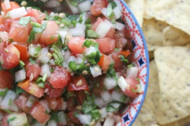 Fresh and Fermented Tomato Salsa or Pico de Gallo