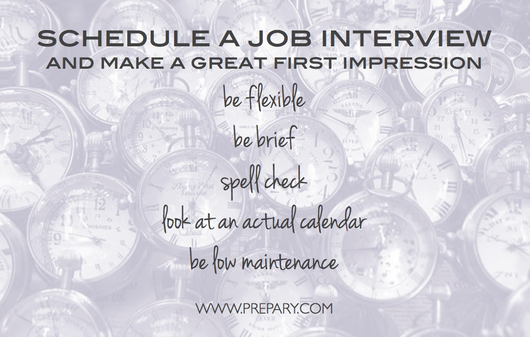 How to schedule a job interview - The Prepary  The Prepary