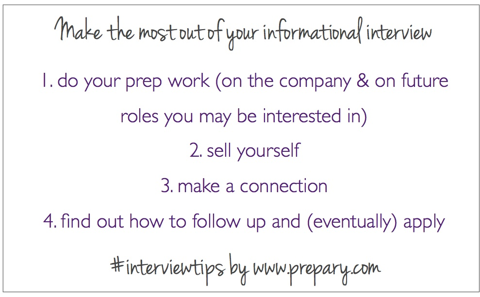 Make the most out on an informational interview  The Prepary