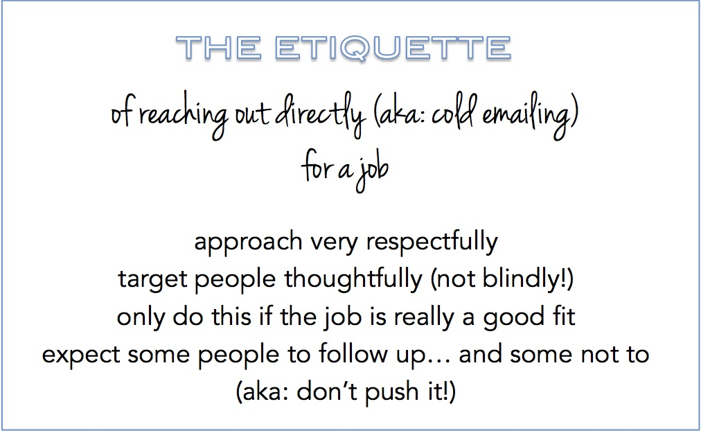How to email someone you don\u0027t know about a job  The Prepary