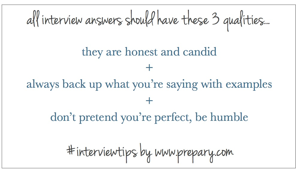 What do all good interview answers have in common? - The Prepary