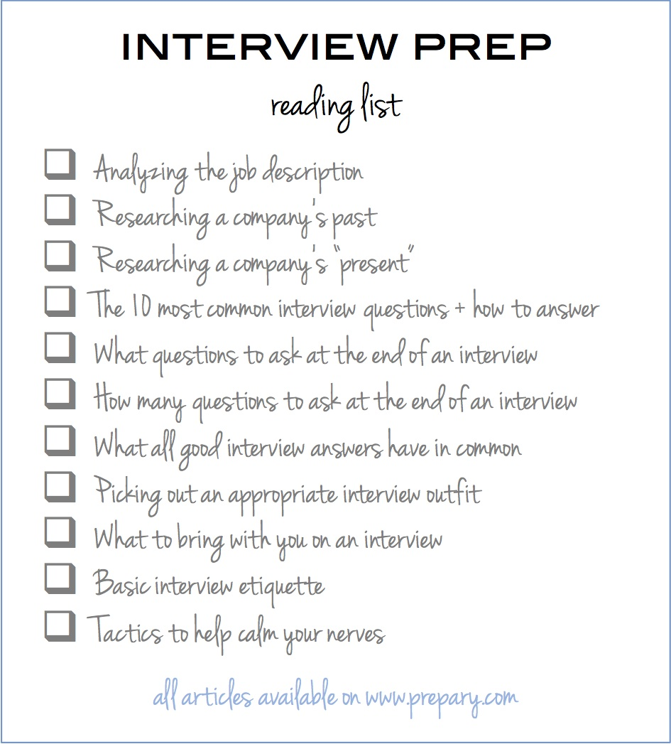 job interview preparation checklist tk job interview preparation checklist