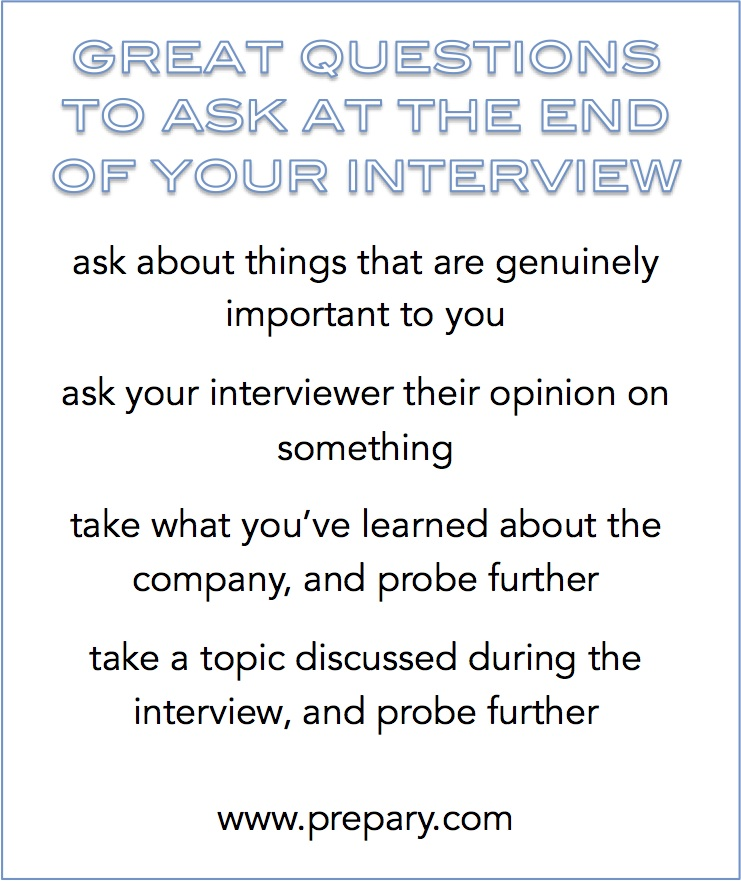 Best questions to ask at the end of an interview - The Prepary  The