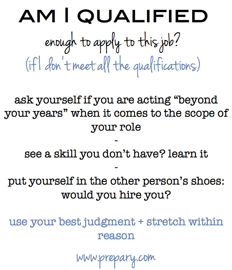 Should you apply if you don\u0027t meet the job qualifications?  The Prepary