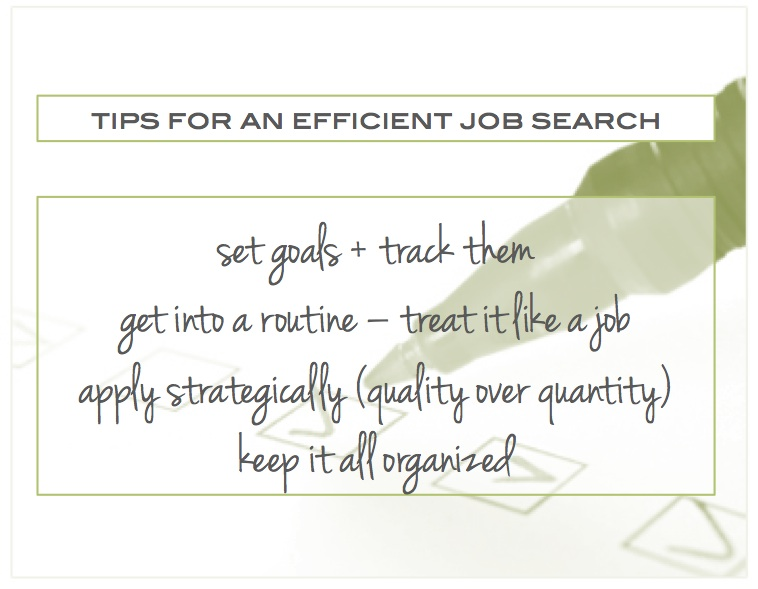 Tips to make your job search efficient (and enjoy your free time