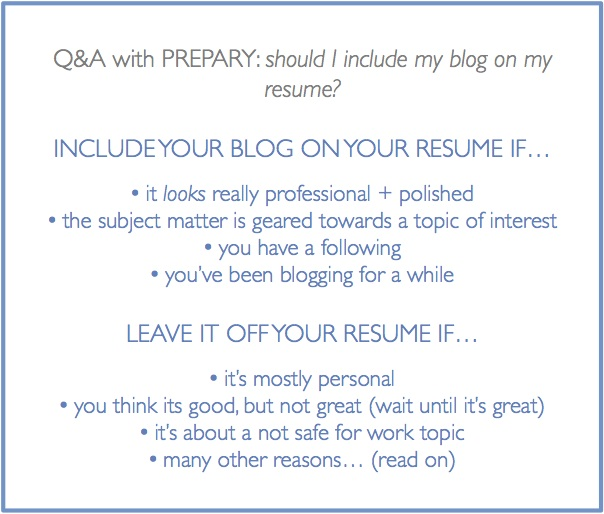 Should I include my blog on my resume? - The Prepary  The Prepary