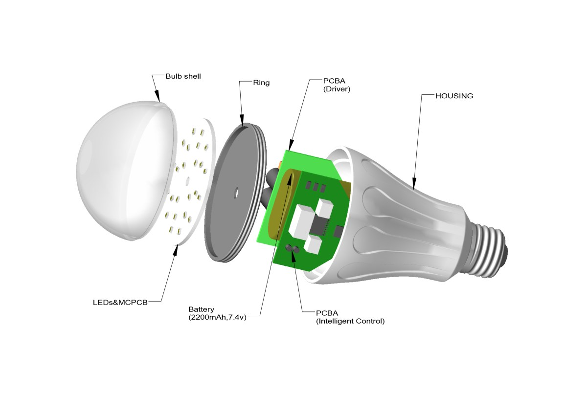 A light bulb that stays on when the electricity goes out - Smartcharge Smart Bulb