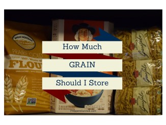 How Much Grain to Store - Preppers Survive