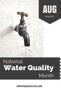 August National Water Quality Month - Prepper Calendar