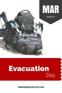 March Evacuation Day - Prepper Calender
