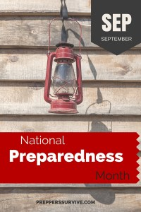 September National Preparedness Month - Prepper Calendar: 12 Month Prepper Checklist