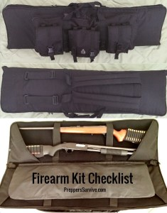 Firearms Kit Checklist Rifle Shotgun Carrying Case