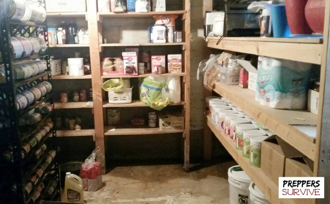 Prepper's pantries - water on the floor