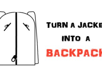 DIY Backpack Ideas - Turn a jacket into a backpack