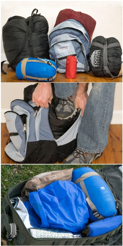 Do you have a sleeping bag in your bug out bag? How to pack a sleeping bag in a backpack.