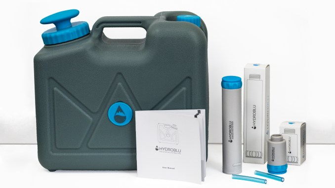 HydroBlue Pressurized Jerry Can Water Filter - Emergency Water Filter