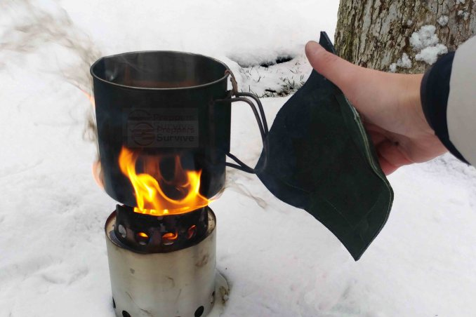 Bugout bag items - Thrive and Not Just Survive - Leather Pot Holder -